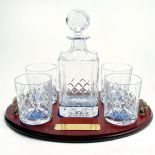 Decanter Tray Set, Crystal Personalised Engraved ref CDT3